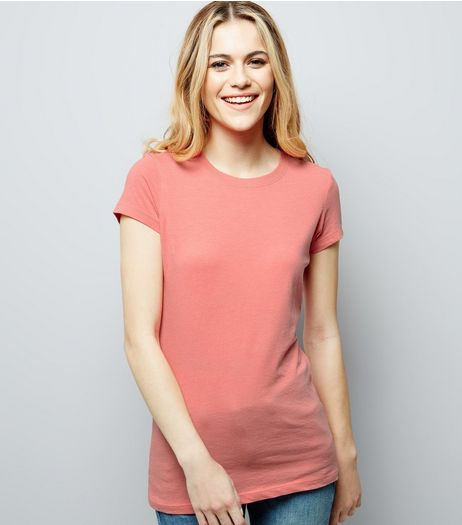 Pink Cotton Mix T-Shirt | New Look