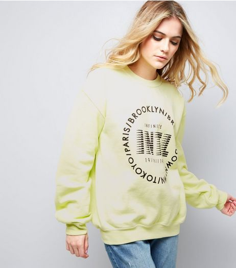 Yellow Circle Logo Sweater | New Look