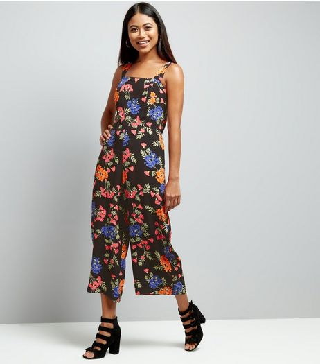 Petite Floral Tie Back Jumpsuit | New Look