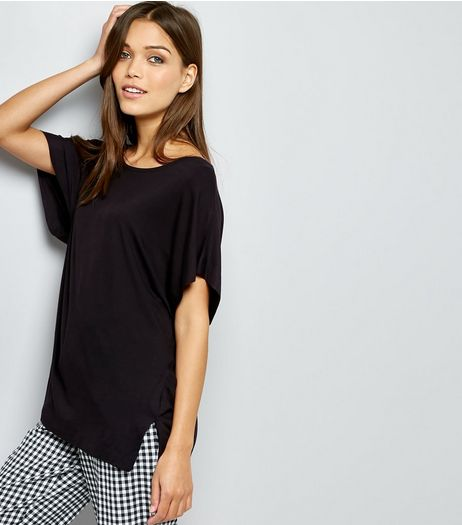 Black Cocoon T-Shirt | New Look
