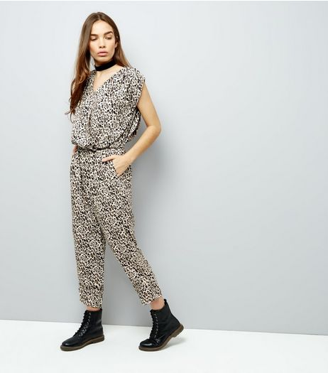 Mela Brown Leopard Print Jumpsuit | New Look