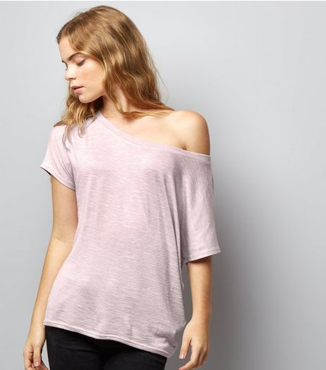 Lilac Off the Shoulder T-Shirt | New Look