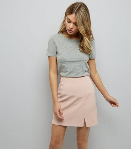 Mid Pink Split Side Mini Skirt  | New Look