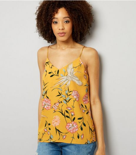 Tall Yellow Floral Print Cami  | New Look