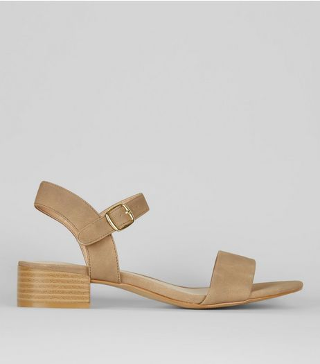 Brown Ankle Strap Low Block Heel Sandals | New Look