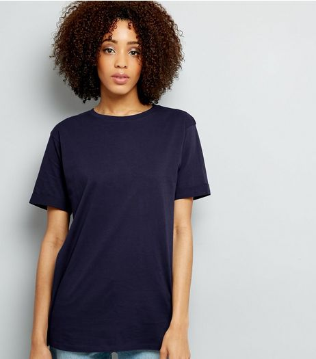 Tall Navy Oversized T-Shirt | New Look