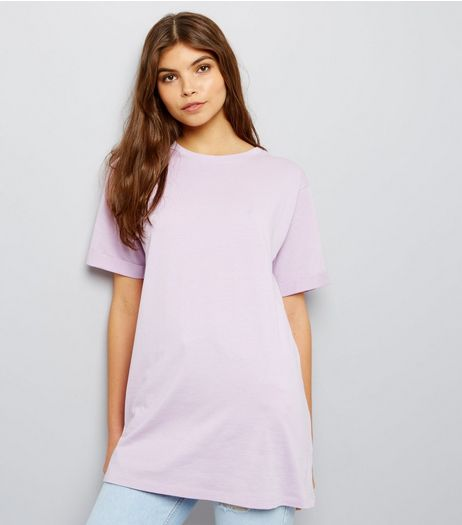 Tall Lilac Oversized T-Shirt | New Look