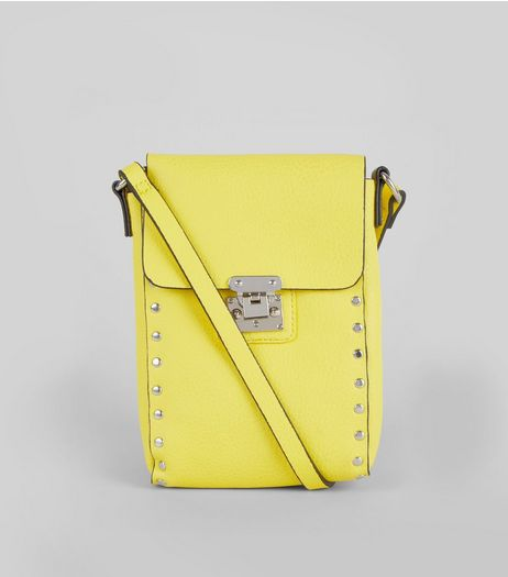 Yellow Studded Cross Body Bag | New Look