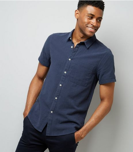 Navy Short Sleeve Shirt | New Look