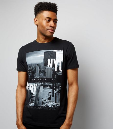 Black NYC Print T-Shirt | New Look