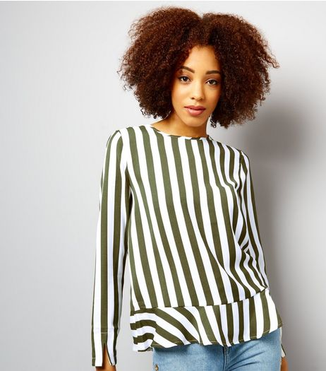 Anita and Green Green Stripe Tie Back Top | New Look