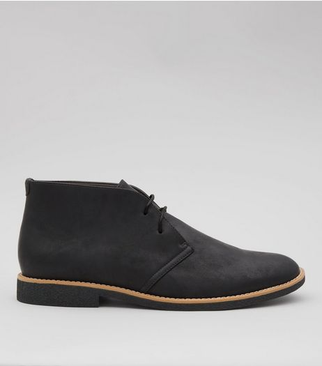 Black Suedette Desert Boots | New Look