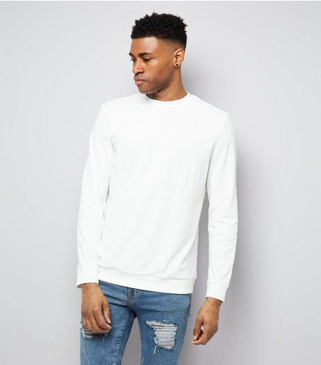 White Crew Neck Sweater | New Look