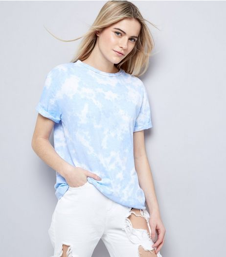 Blue Tie Dye T-Shirt | New Look