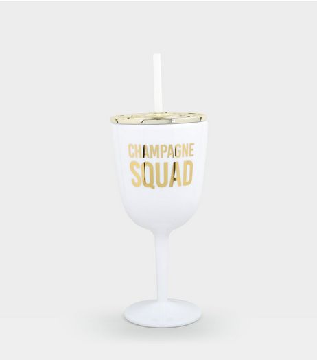 White Champagne Squad Cup | New Look