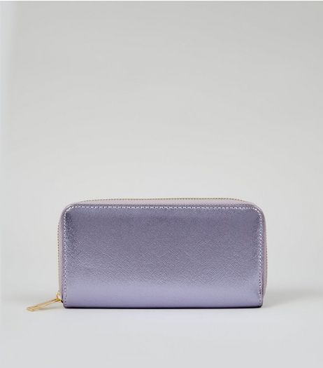 Lilac Metallic Purse  | New Look