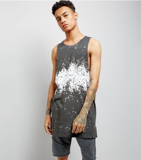 Grey Marbled Print Longline Vest | New Look