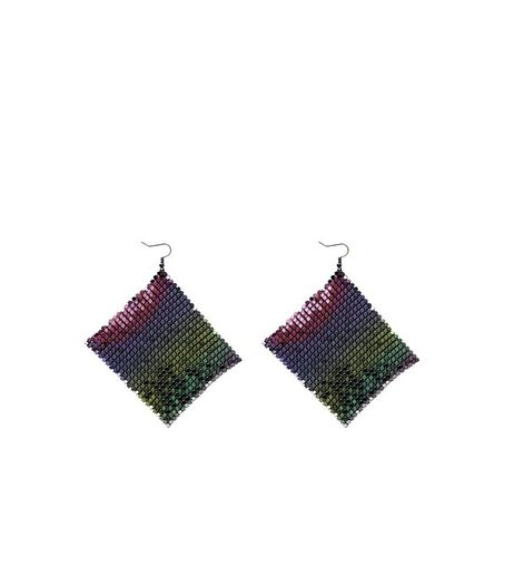 Holographic Chainmail Drop Earrings  | New Look