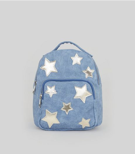 Blue Star Applique Mini Backpack | New Look
