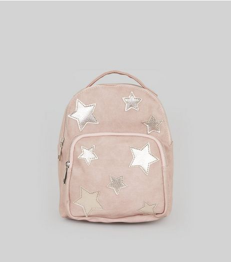 Pink Star Applique Mini Backpack | New Look