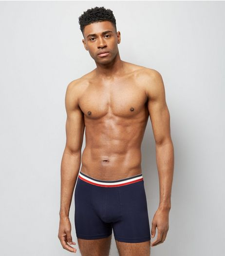 3 Pack Stripe Print Trunks | New Look