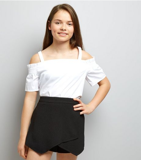 Teens Black Crepe Skort | New Look