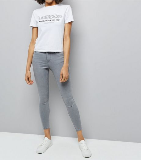 Grey Super Soft Super Skinny Jenna Jeans | New Look