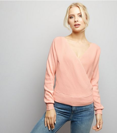 Blue Vanilla Pink Wrap Front Top | New Look