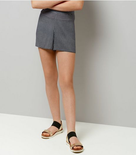 Teens Black Gingham Shorts | New Look