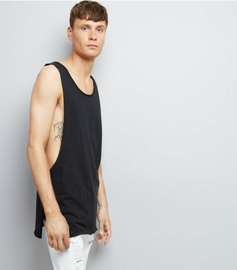 Black Extreme Dropped Armhole Vest | New Look