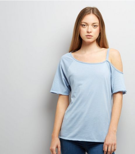Blue Asymmetric One Shoulder Top | New Look