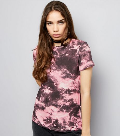 Pink Tie Dye T-Shirt | New Look