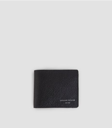 Black Leather Bifold Wallet | New Look