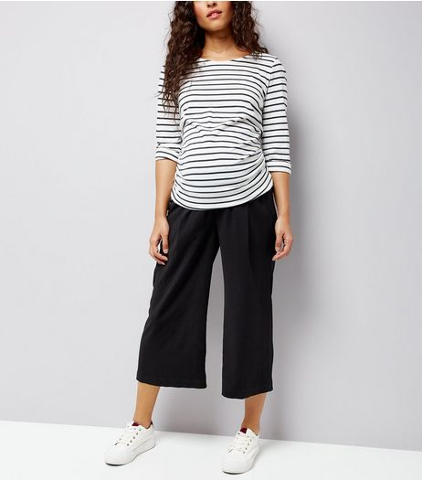 Maternity Black Cropped Trousers | New Look