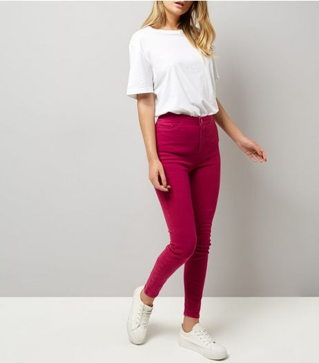 Pink High Waist Skinny Hallie Jeans | New Look