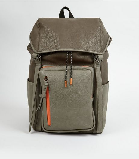 Grey Contrast Trim Backpack  | New Look