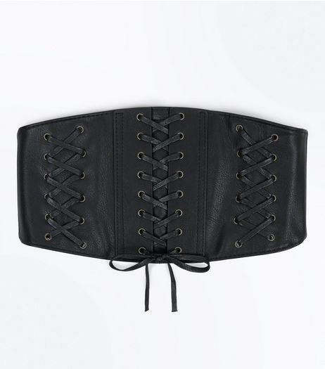 Black Wide Triple Corset Belt | New Look