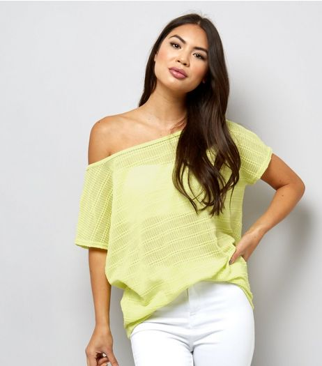 Light Green Off the Shoulder Top  | New Look