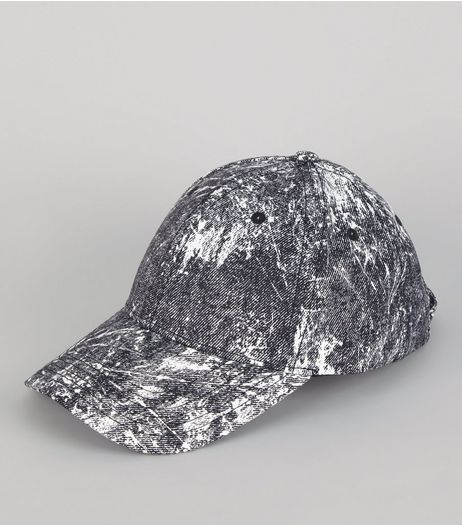 Black Paint Splat Cap | New Look