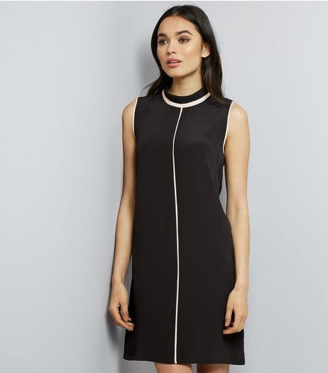 Apricot Black Contrast Piped Trim Dress | New Look