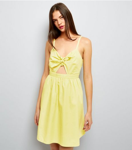 Yellow Bow Front Sundress | New Look