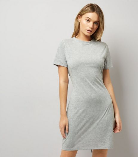 Grey Corset T-Shirt Dress | New Look