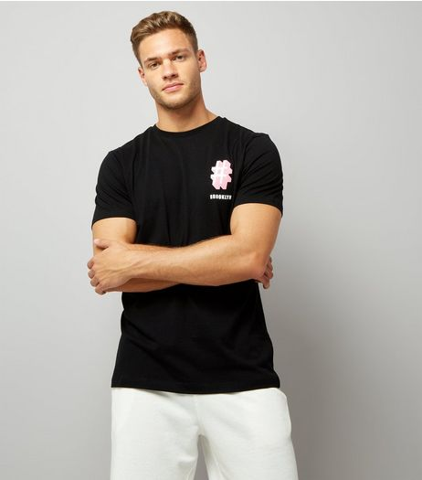 Black Brooklyn Logo T-Shirt | New Look
