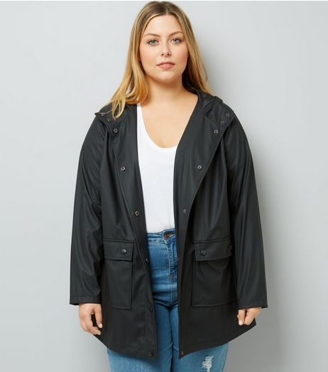 Curves Black Matte Anorak | New Look