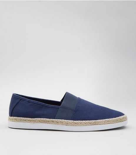Blue Slip On Espadrilles  | New Look