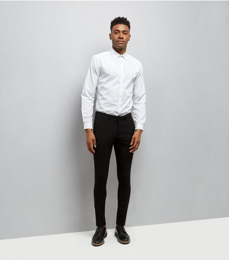 Black Super Skinny Tailored Trousers | New Look