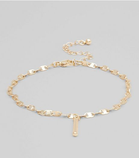 Gold Flat Chain Anklet | New Look