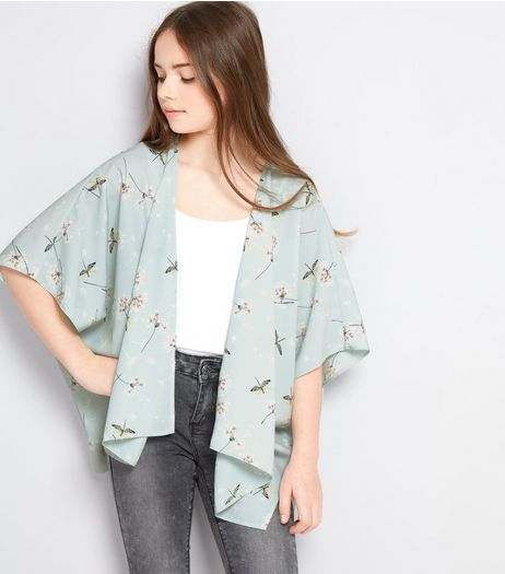 Teens Mint Green Dandelion Print Kimono | New Look