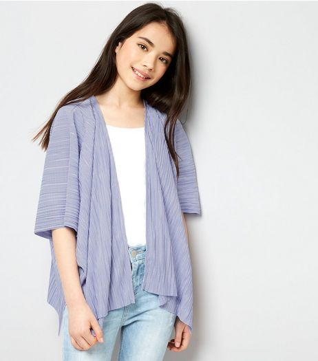 Teens Lilac Pleated Kimono | New Look