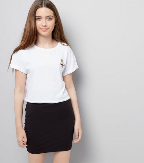 Teens Black Tube Skirt | New Look